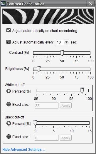 BookMap Review - Heatmap Contrast Configuration
